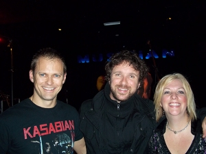 Steve and Jennifer with Colin, Musician, Leicester, UK, Oct. 27/11.