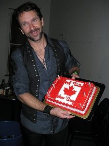 John Angus with his birthday cake, Lansing, MI, Nov. 12/11.