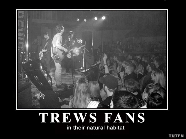 Trews Fans in their natural habitat - a concert
