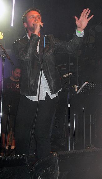 Colin onstage