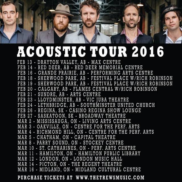 Canadian acoustic tour dates