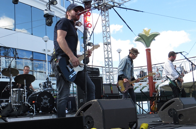 The Trews in concert on the Rock Boat Jan 2016