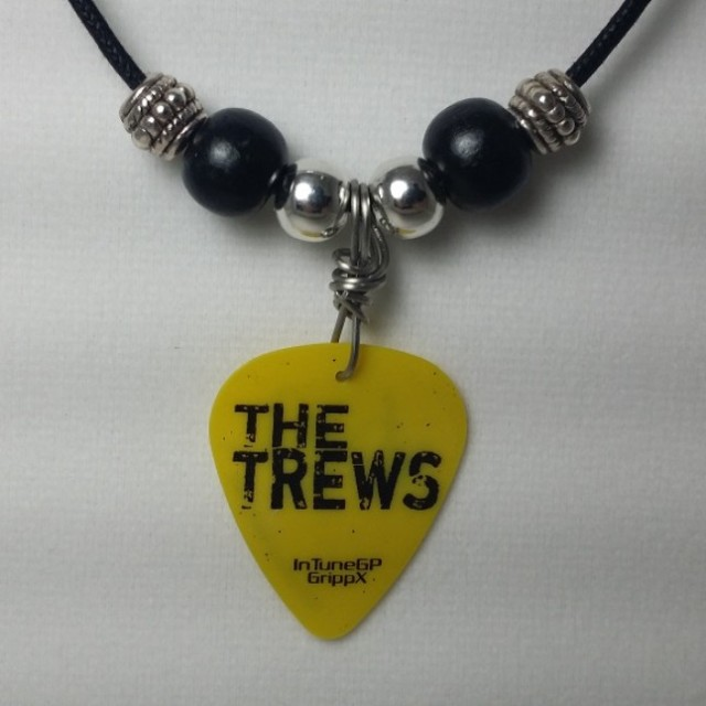 Trews' guitar pick (yellow) necklace