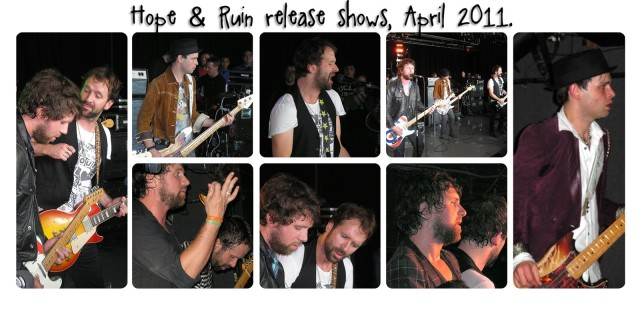 Shows from 2011 Hope & Ruin release shows.