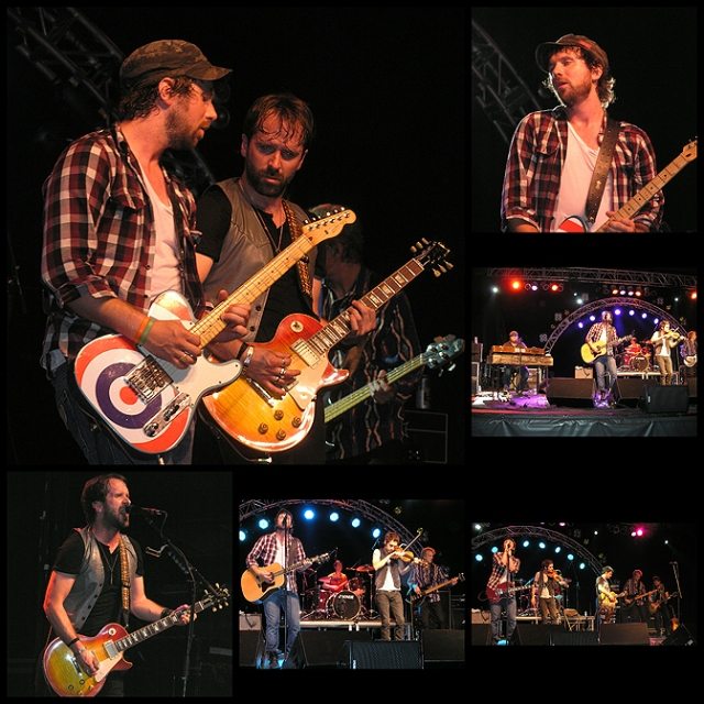 The Trews onstage at BSOMF 2010