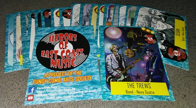 Heroes of East Coast Music trading cards