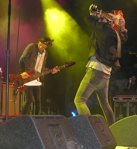 Jack and John-Angus onstage